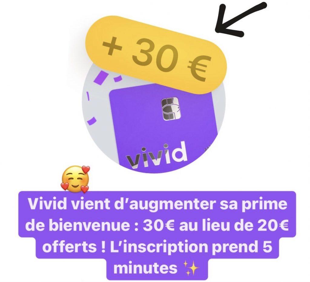 Vivid : 30€ offerts (offre de parrainage)